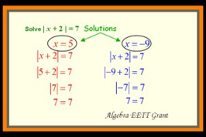 Solving Absolute Value Problems