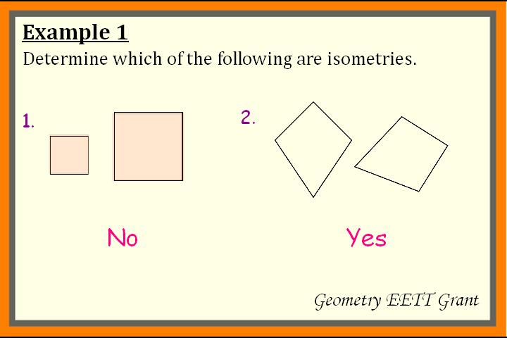 Transformations In The Plane: Isometry and Reflection (En Espanol)