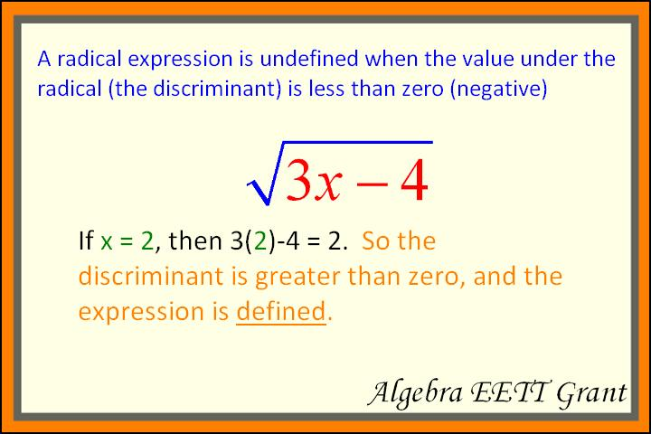 Radical Expressions including multiplying radical expressions ...