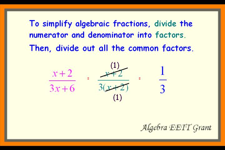 Simplifying Rational Algebraic Expressions Worksheets ...
