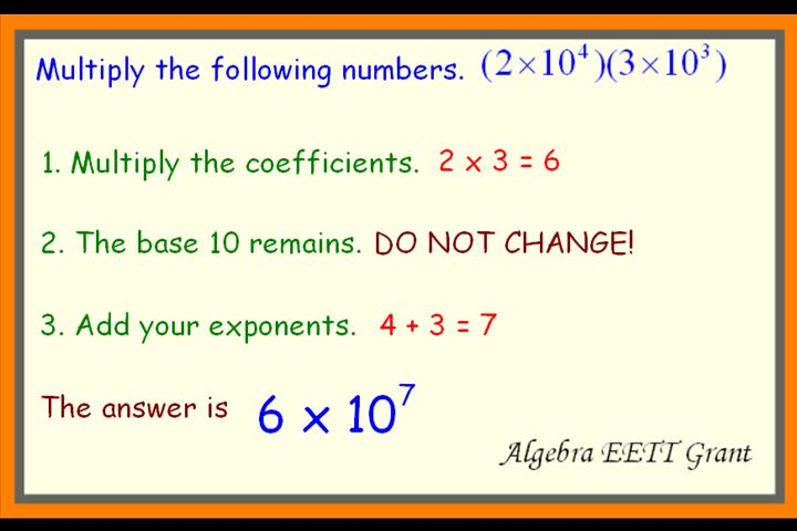 Multiply And Dividing Scientific Notation  Lessons  Tes Teach