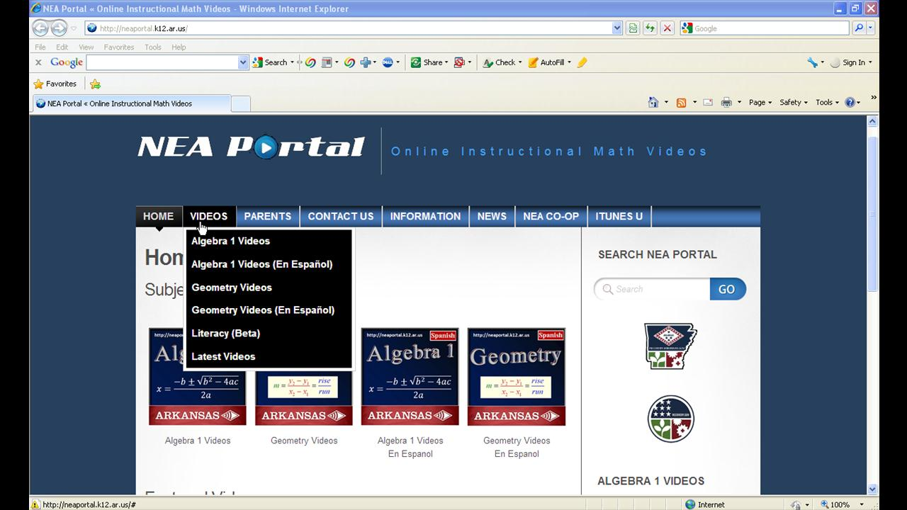Tips on how to use the NEA Portal