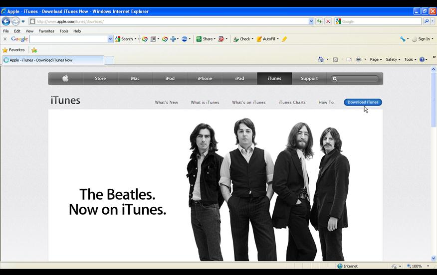 How to install iTunes.